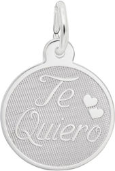 Te Quiero Charm (Choose Metal) by Rembrandt
