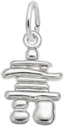 Small Inukshuk Charm (Choose Metal) by Rembrandt
