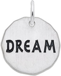 Dream Charm Tag Black Enamel Charm (Choose Metal) by Rembrandt