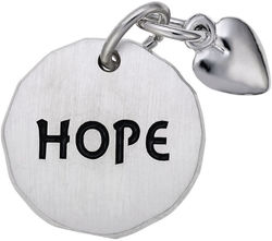 Hope Tag w/ Heart Charm (Choose Metal) by Rembrandt