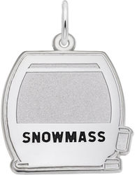 Snowmass Flat Cable Car Charm (Choose Metal) by Rembrandt