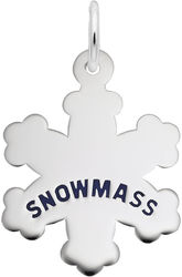 Snowmass Snowflake Charm (Choose Metal) by Rembrandt