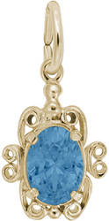 Synthetic Crystal Simulated Birthstone Charm (Choose Month & Metal) by Rembrandt