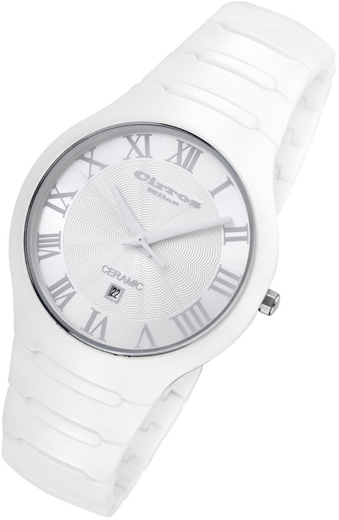 Rougois Cirros Milan Empire Series White on White Ceramic Watch - CM2376WW