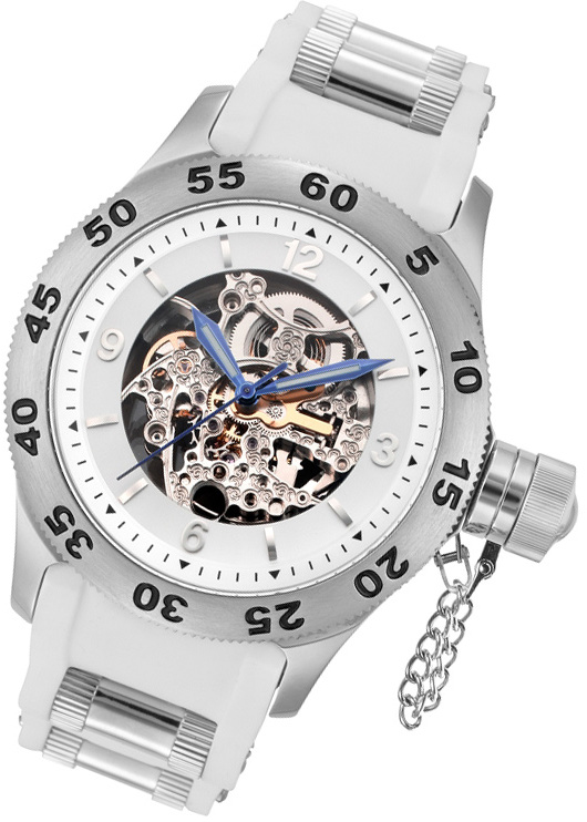 Rougois Automatic Skeleton Naval Diver Watch