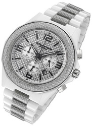 Rougois Cirros Milan White Ceramic and Silver Carbon Fiber Mens Chronograph Watch