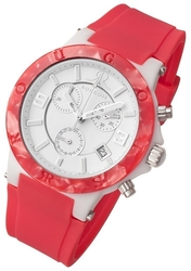 Rougois Pop Series Colorful Pink Silicone Band Chronograph Watch