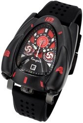 Rougois Black & Red Rocket Watch