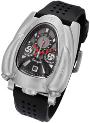 Rougois Silver & Black Rocket Watch