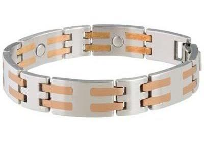 Sabona Stainless-Copper Bar Magnetic - Mens Executive Bracelet