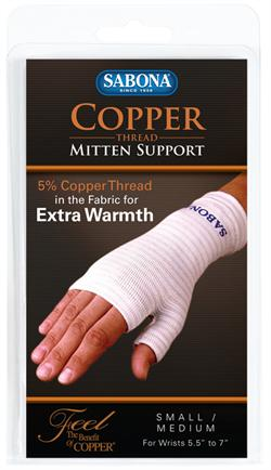 Sabona Copper Thread Mitten Support