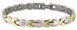 Sabona Lady Executive Dress Gold Duet Magnetic - Ladies Executive Bracelet