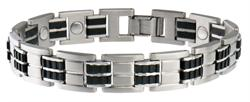Sabona Executive Stainless-Rubber Magnetic - Mens Executive Bracelet
