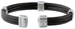Sabona Trio Cable Black-Satin Stainless Magnetic - Mens Executive Bracelet