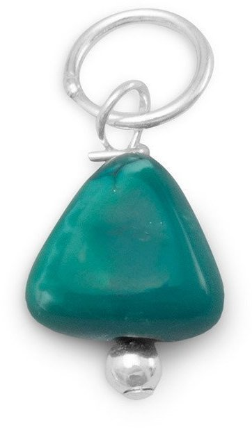 Turquoise Nugget Charm - December Birthstone 925 Sterling Silver