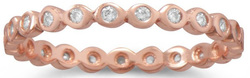 Rose Gold Plated Eternity Ring 925 Sterling Silver