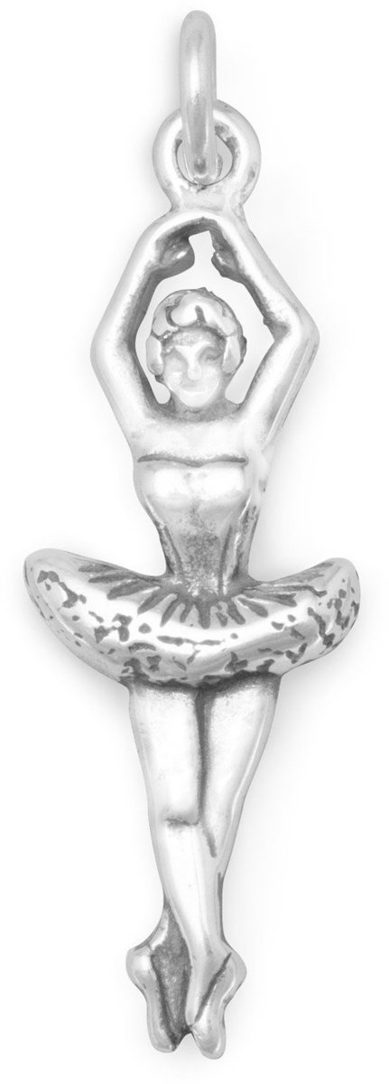 Ballerina Charm 925 Sterling Silver