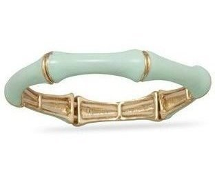Mint Green Bamboo Fashion Bangle Bracelet - LIMITED STOCK