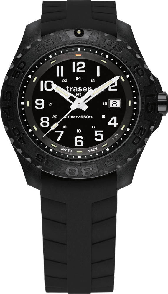 Traser Tritium Watch - Sport Collection - P96 Officer Pro w/ Silicone Strap - 107100