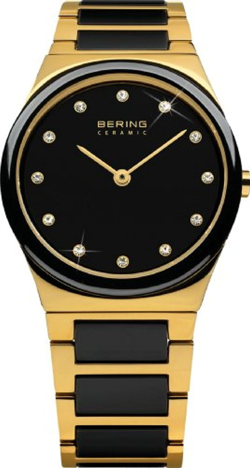 Bering Time Watch - Ceramic Ladies Gold-Tone withs 32230-741