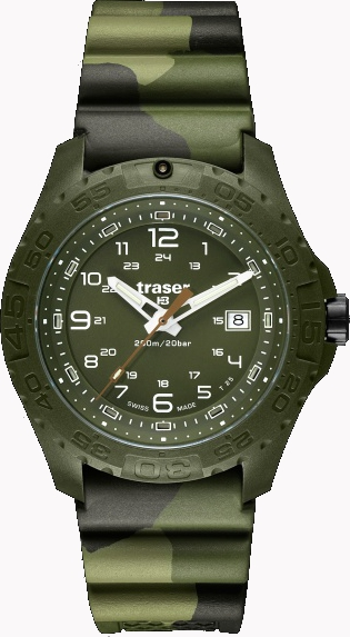 Traser Tritium Watch - Tactical Collection - Soldier w/ Camo Rubber Strap - 106631