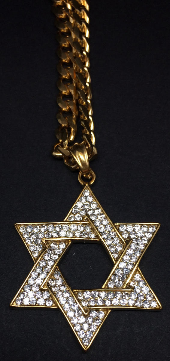 31466d120171b Hip-Hop%20Jewelry%20-%20Iced%20Out%20Star%20of%20David%20Pendant%20w%2F%2024%26quot%3B%20Curb%20Chain%20Necklace