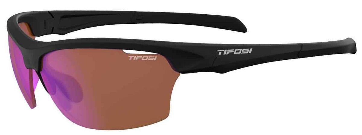 Tifosi Sunglasses - Intense Matte Black w/ AC Red Lens 8520400172