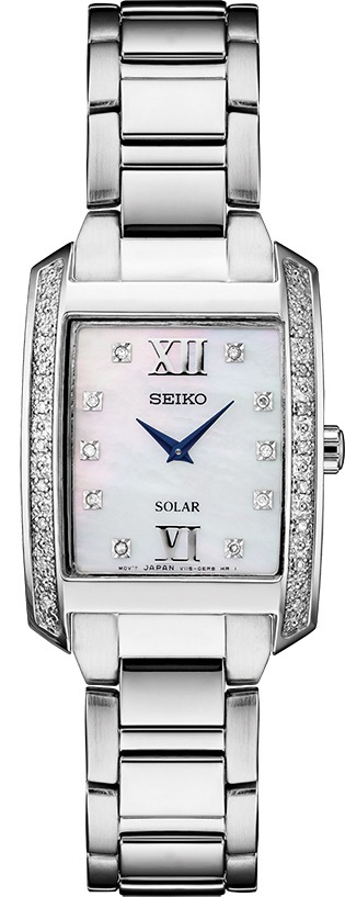 Seiko Solar Diamond & Mother of Pearl Ladies Watch SUP399