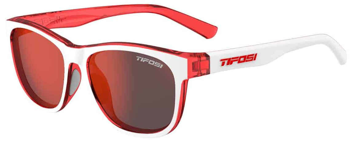 Tifosi Sunglasses - Swank - Icicle Red with Smoke Red Lens 1500401878