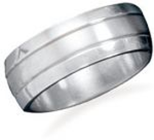 Polished and brushed stainless steel band