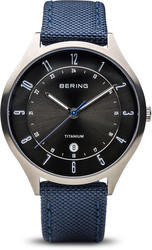 Bering Time Watch -  Mens Titanium Brushed Silver-Tone 11739-873