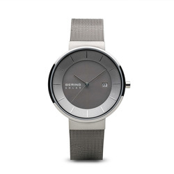 Bering Time Watch -  Mens Solar Silver Tone Polished 14639-309