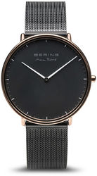 Bering Time Watch -  Max Rene Mens Black Dial and Mesh Band 15738-162