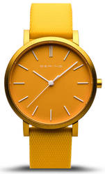 Bering Time Watch - True Aurora Unisex Yellow Dial and Mesh Band 16934-699