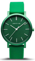 Bering Time Watch - True Aurora Unisex Green Dial and Mesh Band 16934-899