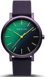 Bering Time Watch - True Aurora Unisex Green Dial and Purple Mesh Band 16934-999