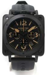 Lum-Tec Watch - Bull42 - A19 Phantom Mens Black Stainless Steel - DISCONTINUED