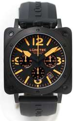 Lum-Tec Watch - Bull42 - A20 Mens Orange Dial Black Stainless Steel - DISCONTINUED