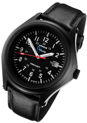 ArmourLite Tritium Watch - Captain Field Series Black Leather AL305 - DISCONTINUED