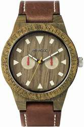 WeWood Wooden Watch - Leo Leather Army US