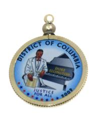 District of Columbia Colored Quarter Pendant