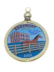 Kentucky State Colored Quarter Pendant
