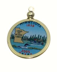 Minnesota State Colored Quarter Pendant