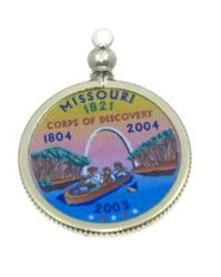 Missouri State Colored Quarter Pendant