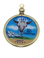 Montana State Colored Quarter Pendant