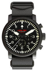 Lum-Tec Watch - Combat B - Combat B42 Mens w/ Black Nylon & Desert Tan Nylon Straps - DISCONTINUED