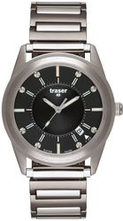 Traser Tritium Watch - Classic Collection - Classic Translucent Black w/ Steel Bracelet - 102346 - DISCONTINUED