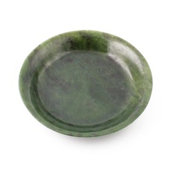 Green Genuine Natural Nephrite Jade 7.5 inch Bowl Dish