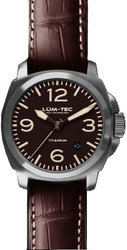 Lum-Tec Watch - M Series - M77+ (44mm) Titanium Automatic Mens Dark Burgundy w/ Alligator & Rubber Straps - DISCONTINUED