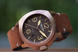 Lum-Tec Watch - M Series - M83 Bronze Automatic Mens w/ Suede Leather Strap